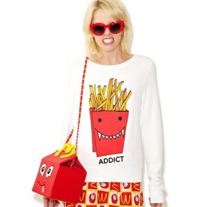 Wildfox French Fry Addict Baggy Sweater Jumper